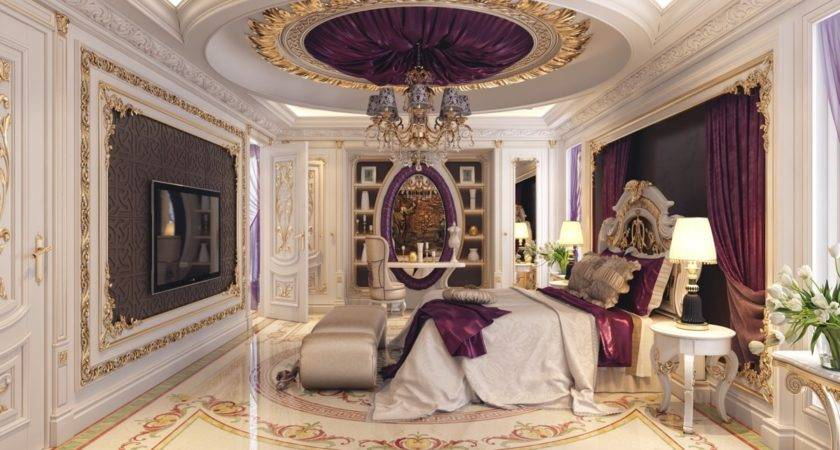 Luxury Bedrooms Detail Trends Including Purple Gold