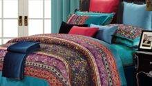Luxury Colorful Paisley Design Teal Cotton