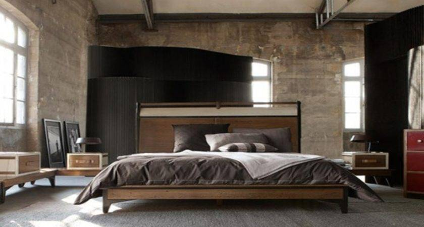 Masculine Bedroom Furniture Industrial Style