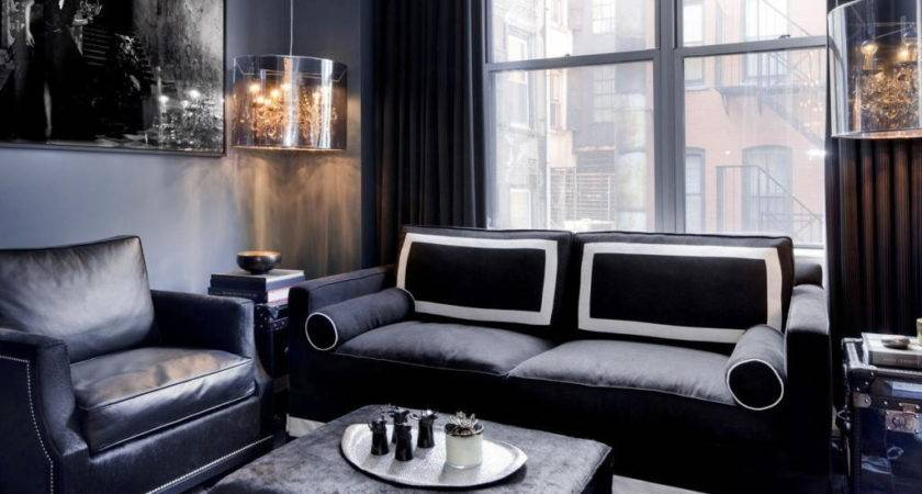 Masculine Living Room Decoration Guest Make