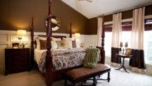 Master Bedroom Cream Brown Traditional
