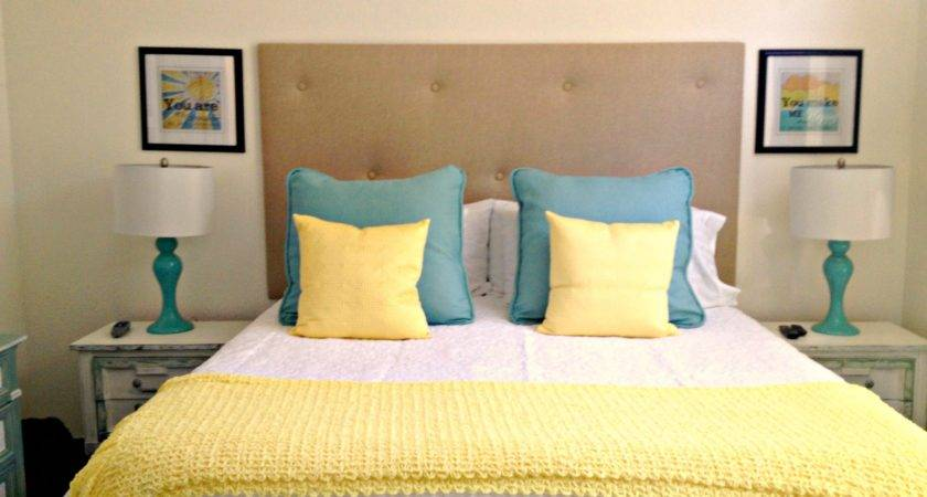 Master Bedroom Vintage Blue Yellow White