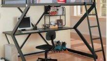 Metal Bunk Style Loft Bed Desk Affordable