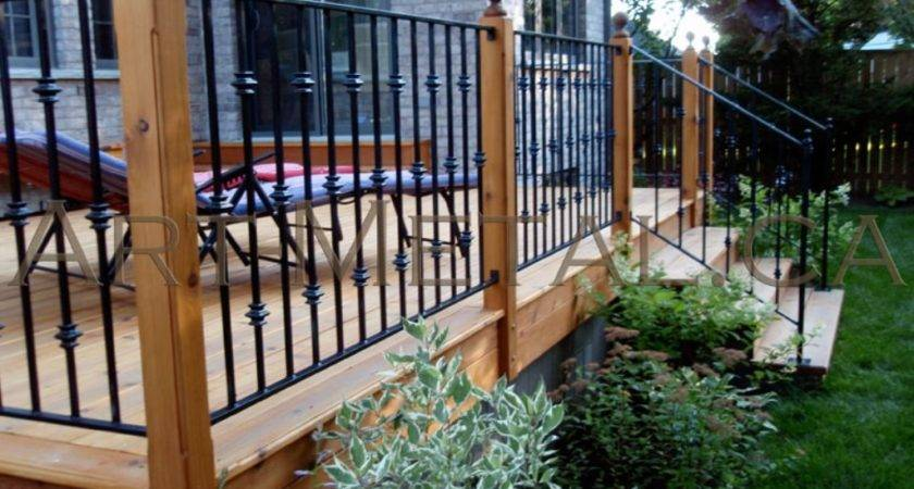 Metal Deck Railing Ideas Cheap Stairs