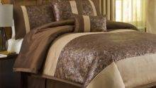 Metallic Animal Piece Comforter Set Brown Gold