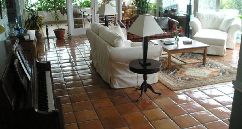 Mexican Terracotta Floors Traditional Living Room