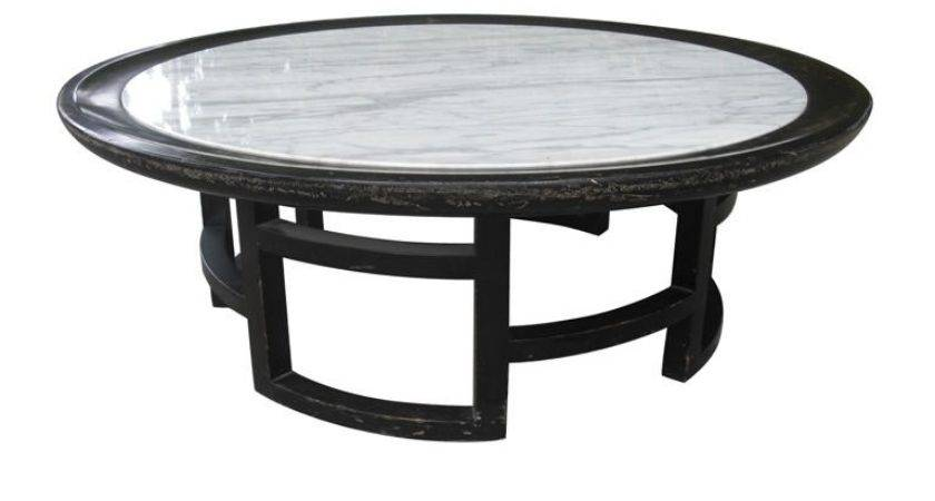 Mid Century Asian Modern Marble Top Coffee Table Stdibs