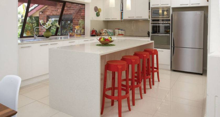 Mid Sized Midcentury Foot Kitchen Island Home Design