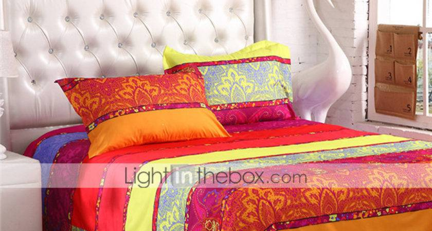 Mingjie Orange Yellow Bedding Sets Pcs Queen