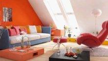 Minimalist Red Orange Living Space Design Concepts