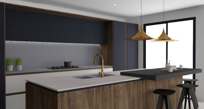 Minosa Striking Kitchen Design Rich Wood Copper