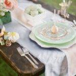 Mint Green Table Settings Fly Away Bride