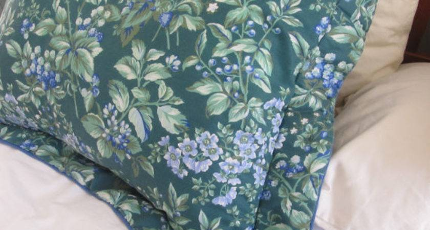 Mint Laura Ashley Standard Pillow Sham Vintage English Cottage