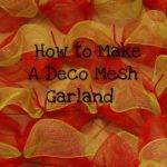 Miss Kopy Kat Make Deco Mesh Garland