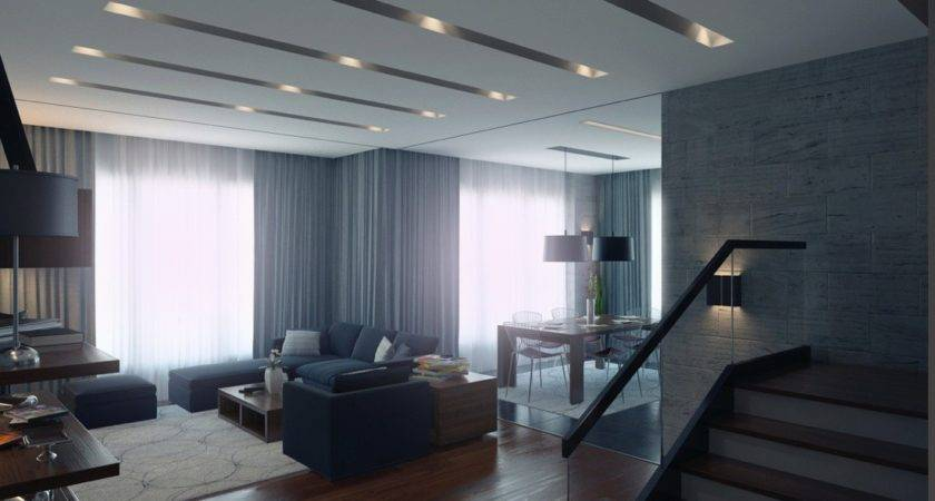 Modern Apartment Living Room Interior Design Ideas