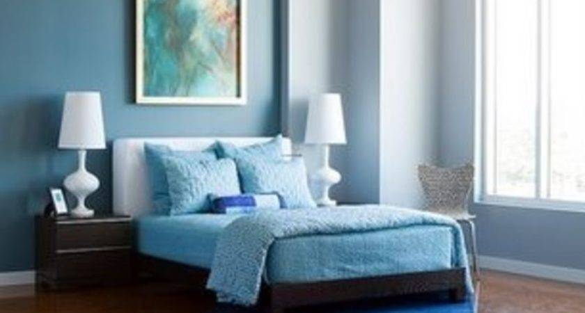 Modern Cute Blue Brown Bedroom Interior Decoration