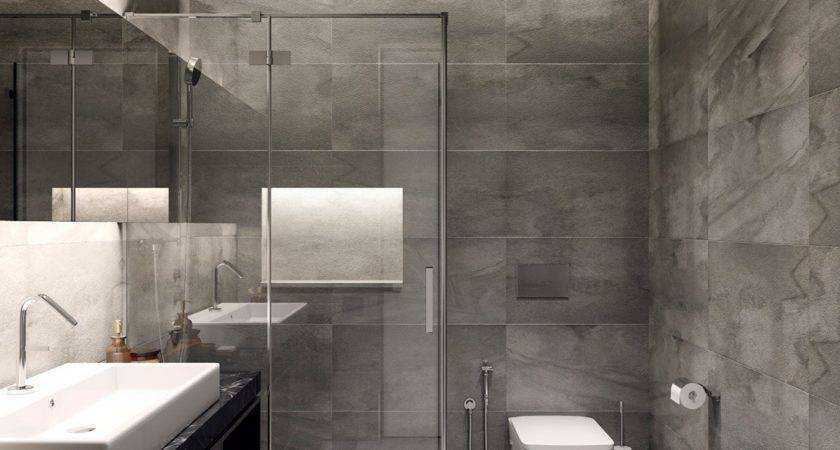 Modern Gray Bathroom Interior Design Ideas Loversiq