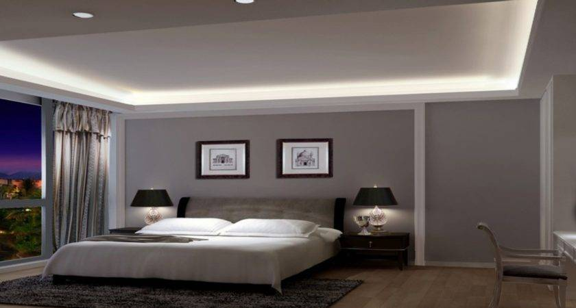 Modern Grey Bedroom Gray Wall Accent