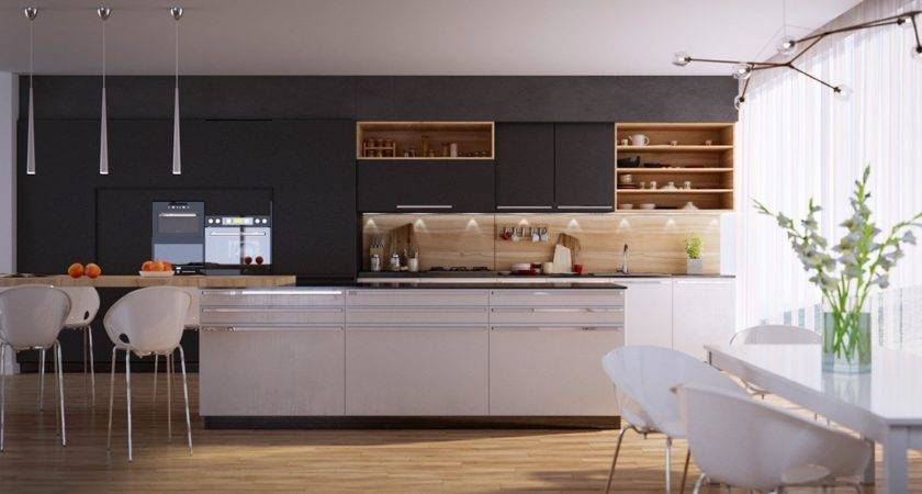 Modern Kitchen Designs Unconventional Geometry