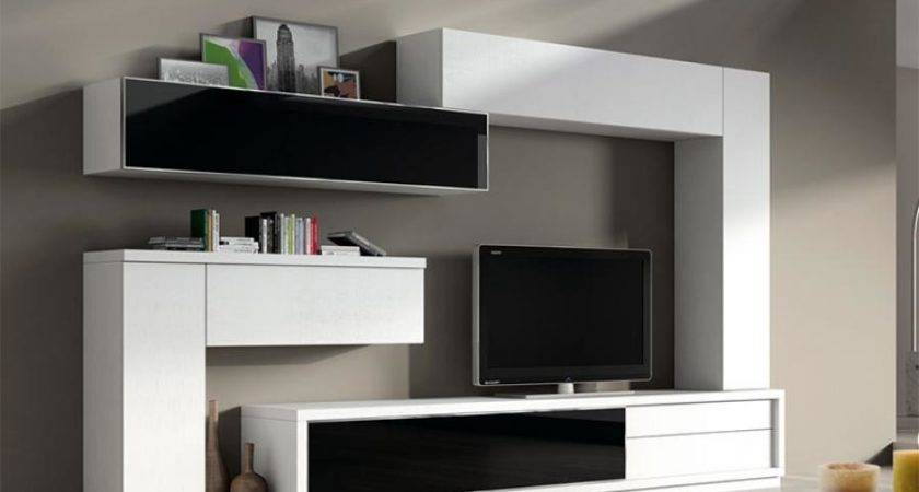 Modern Living Room Wall Storage System Baixmoduls