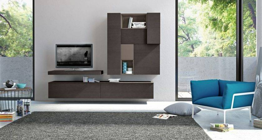 Modern Living Room Wall Units Storage Inspiration