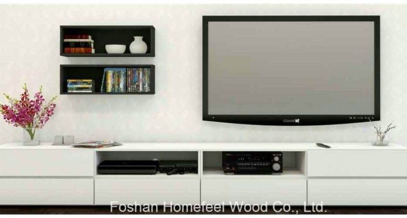 Modern Living Room White Wooden Stand Cabinet Units