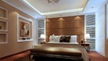 Modern Minimalist Light Brown Bedroom Interior Design