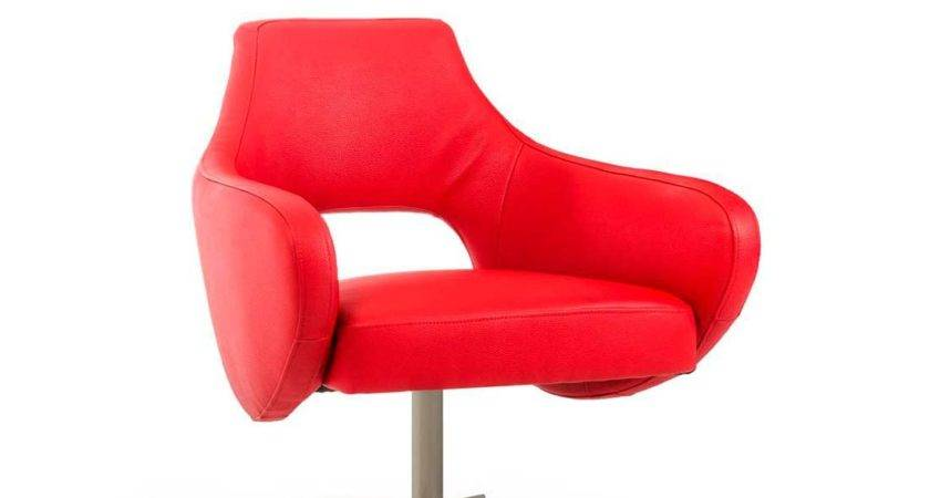 Modern Red Lounge Chair Accent Seating