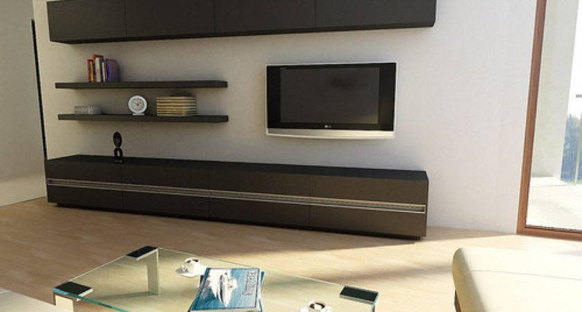 Modern Rooms Lcd Cabinets Furnitures Designs Ideas