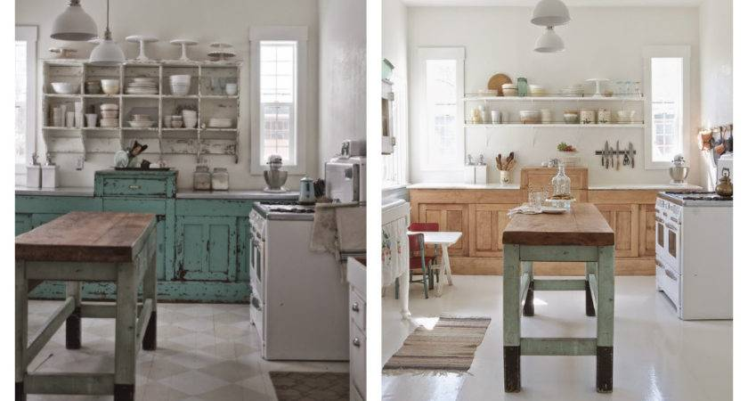 Modern Rustic Kitchen Makeover White Before