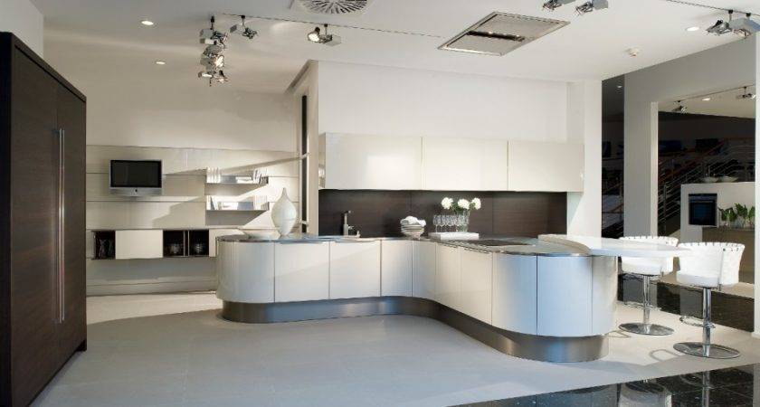 Momentous Curved Kitchen Island Designs Shaped