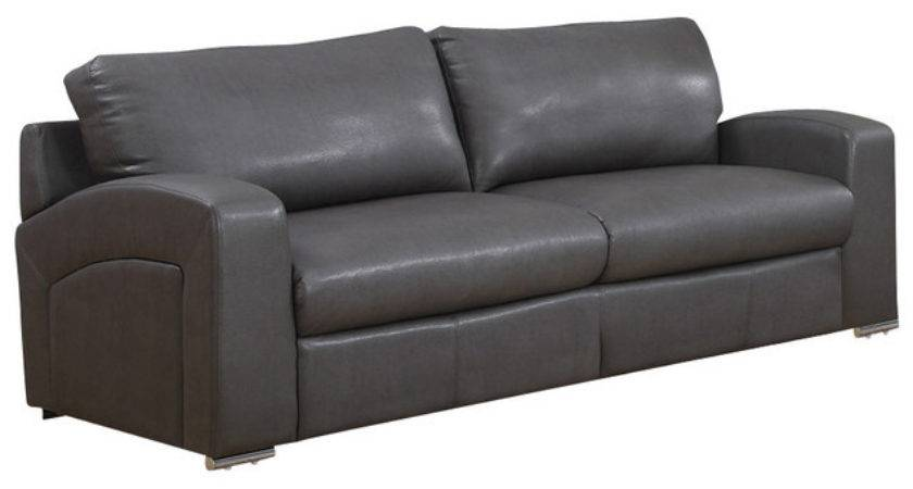 Monarch Specialties Charcoal Grey Bonded Leather Match