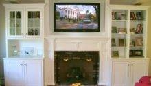 Mounted Above Fireplace Custom Cabinet