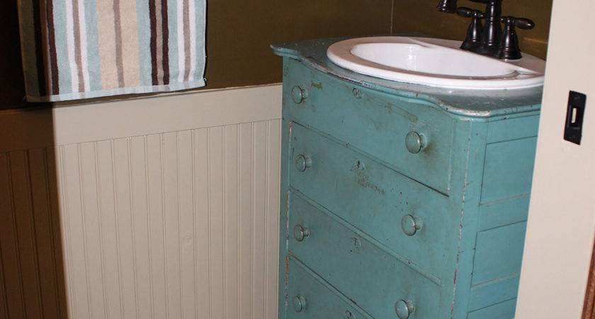 Mudroom Renovation Old Dresser Purposed Into