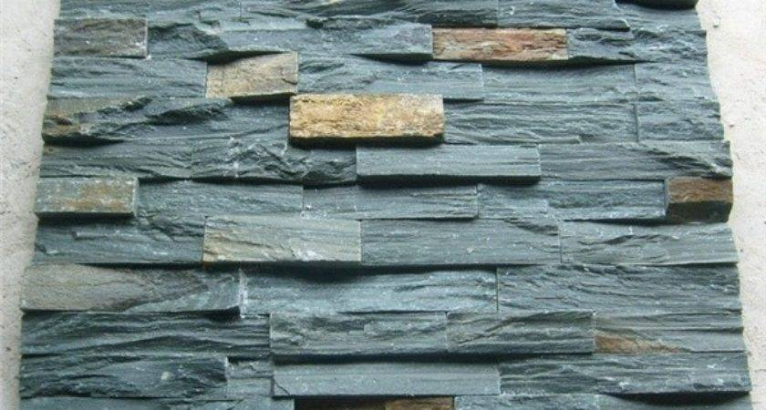 Natural Green Slate Cultured Stone Wall Panel Interior