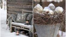 Natural Outdoor Winter Decor