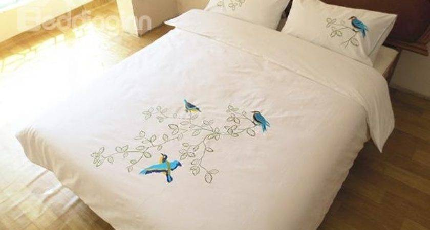 New Arrival Handmade Embroidery Bird Theme All Cotton