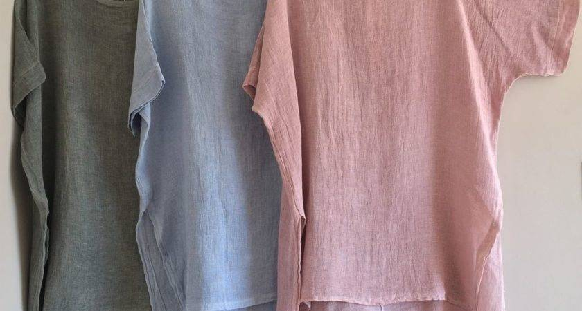 New Italian Lagenlook Oversized Side Split Cotton Linen