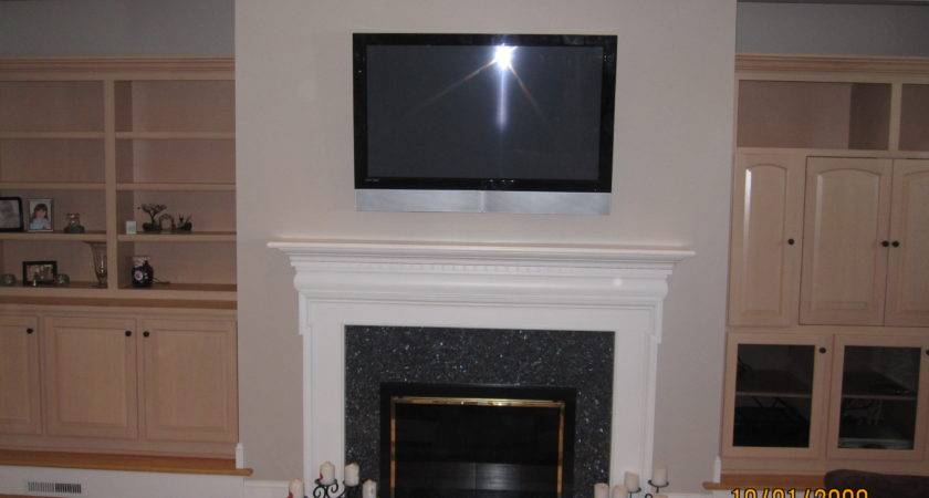 New Milford Mount Above Fireplace Home Theater