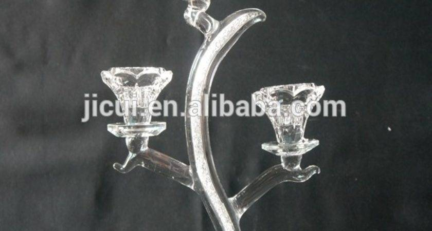 New Type Crystal Candle Holder Centerpieces Inside Have
