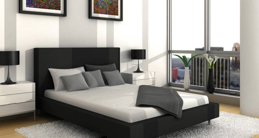 News White Master Bedroom World Black