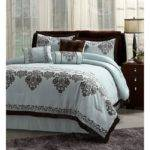 Nib Fontain Icy Blue Brown Cal King Comforter