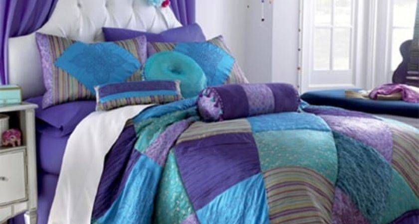 Nifty Purple Teal Bedroom Ideas