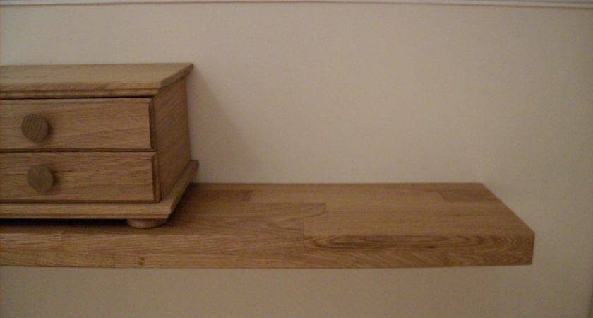 Oak Shop Floating Shelves
