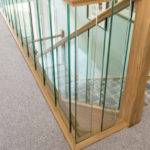Oak Staircase Glass Spindles Neville Johnson