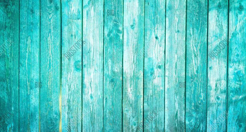 Old Blue Wood Planks Bigstock