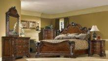 Old World Piece King Traditional European Style Bedroom