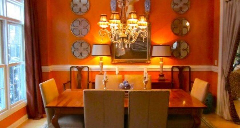 Orange Color Your Dining Room Why Not