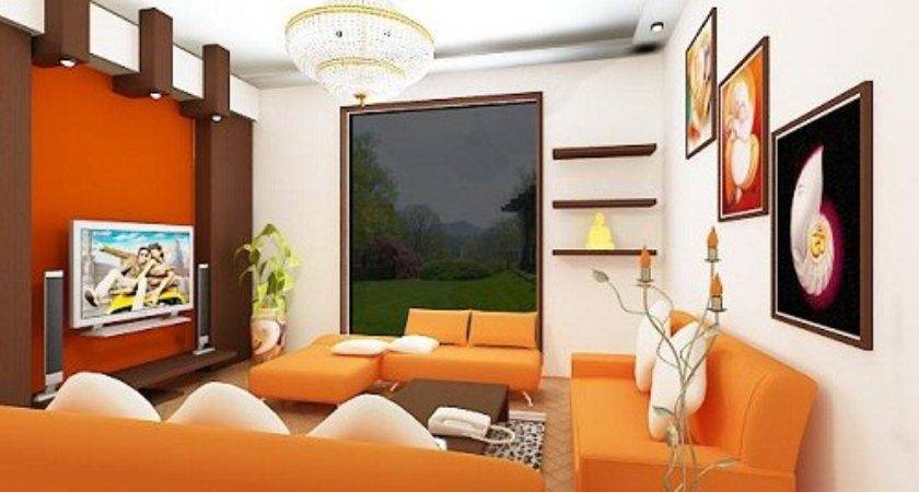 Orange Colorful Living Room Decorating Ideas Home