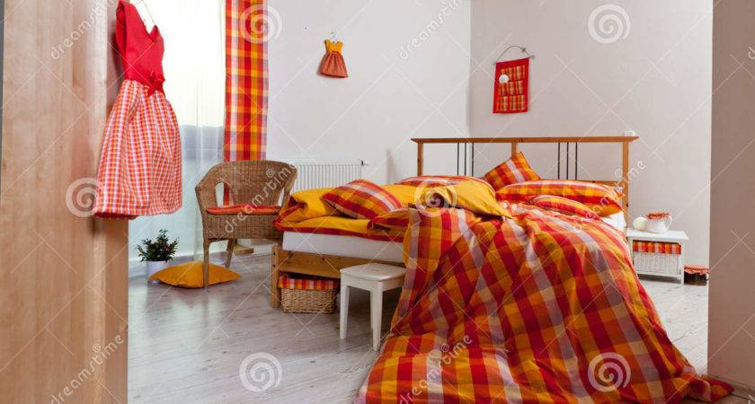 Orange Yellow Bedroom